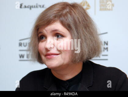 London, UK. 25th Nov, 2018. LONDON, UNITED KINGDOM - NOVEMBER 25, 2018: Russian director Avdotya Smirnova at a press conference by the crew of her drama film The Story of an Appointment (2018) presented at Russian Film Week. Ilya Dmitryachev/TASS Credit: ITAR-TASS News Agency/Alamy Live News - Stock Photo