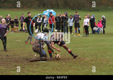Sevenoaks, Kent, UK. 25th Nov, 2018. 18 teams compete in the 2018 Southern Quidditch Cup in Sevenoaks, Kent, England 25.11.2018 Credit: theodore liasi/Alamy Live News - Stock Photo