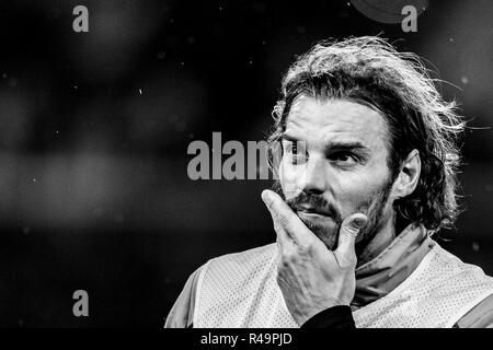 Genoa, Italy. 25th Nov, 2018. Federico Marchetti  (Genoa)  during the Italian 'Serie A' match between Genoa 1-1 Sampdoria at Luigi Ferraris Stadium on November 25 , 2018 in Genova, Italy. (Photo by Maurizio Borsari/AFLO) - Stock Photo