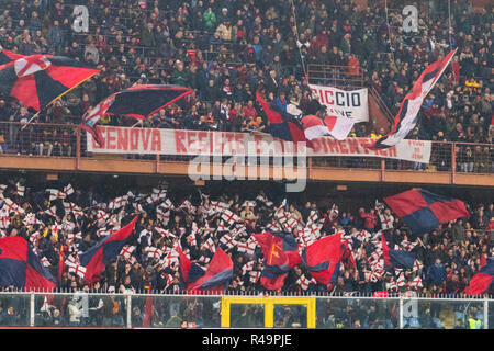 Genoa, Italy. 25th Nov, 2018. Supporters (Genoa)  during the Italian 'Serie A' match between Genoa 1-1 Sampdoria at Luigi Ferraris Stadium on November 25 , 2018 in Genova, Italy. (Photo by Maurizio Borsari/AFLO) - Stock Photo
