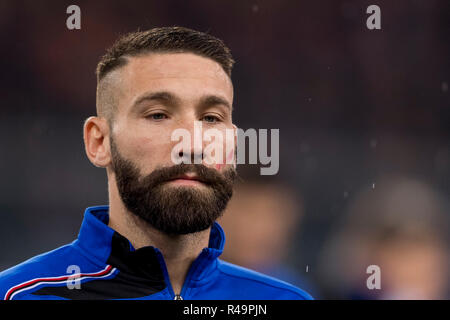 Genoa, Italy. 25th Nov, 2018. Lorenzo Tonelli (Sampdoria)  during the Italian 'Serie A' match between Genoa 1-1 Sampdoria at Luigi Ferraris Stadium on November 25 , 2018 in Genova, Italy. (Photo by Maurizio Borsari/AFLO) - Stock Photo