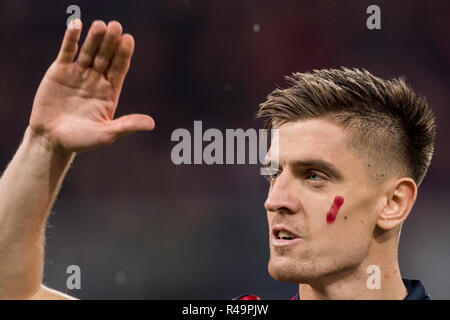 Genoa, Italy. 25th Nov, 2018. Krzysztof Piatek (Genoa) during the Italian 'Serie A' match between Genoa 1-1 Sampdoria at Luigi Ferraris Stadium on November 25, 2018 in Genova, Italy. Credit: Maurizio Borsari/AFLO/Alamy Live News - Stock Photo