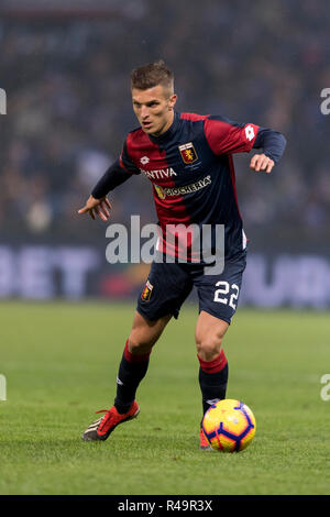 Genoa, Italy. 25th Nov, 2018. Darko Lazovic (Genoa) during the Italian 'Serie A' match between Genoa 1-1 Sampdoria at Luigi Ferraris Stadium on November 25, 2018 in Genova, Italy. Credit: Maurizio Borsari/AFLO/Alamy Live News - Stock Photo