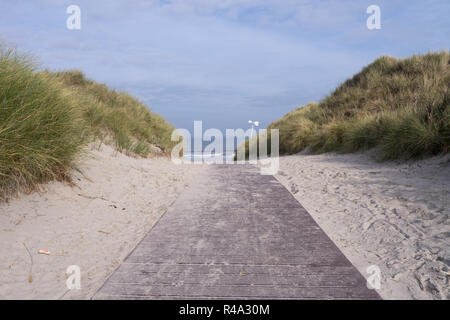 way to the sea (norderney) - Stock Photo