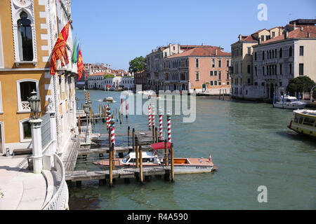 View of Canal grande from the Academia bridge - Stock Photo