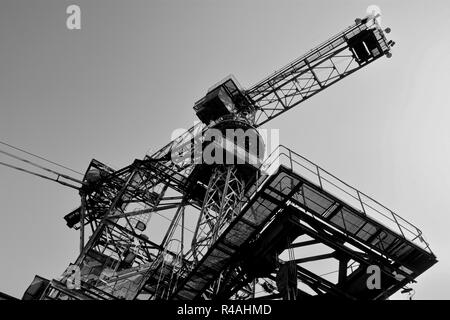 discarded lignite excavators in the disused opencast mine Ferropolis - Stock Photo