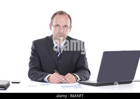 close up.businessman working with financial documents. photo with copy space - Stock Photo