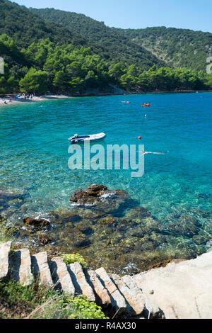 Sea, Valun, Cres Island, Kvarner Bay, Croatia - Stock Photo