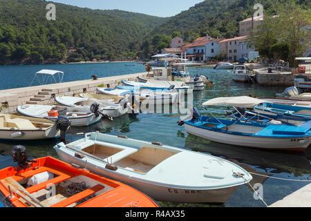 Harbour, Valun, Cres Island, Kvarner Bay, Croatia - Stock Photo