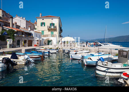 Harbour, Valun, Cres Island, Kvarner Bay, Croatia - Stock Photo