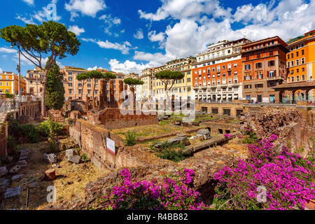 Largo di Torre Argentina, Rome, Italy - Stock Photo