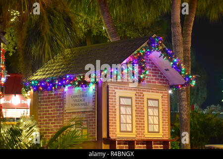 Orlando, Florida. November 19, 2018. Christmas Village Town Hall in International Drive area . - Stock Photo