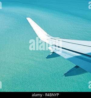 Sea from the airplane - Stock Photo