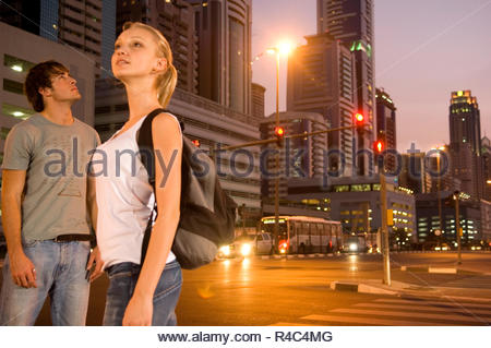 A young couple on a city break - Stock Photo