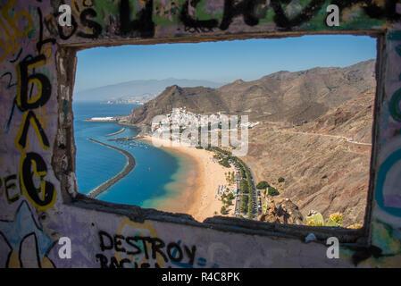 Graphite window , Playa de las Teresitas , Canary Islands, Spain