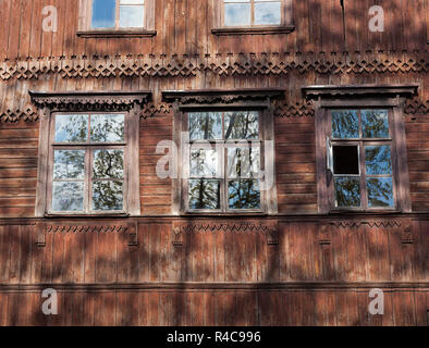 old wooden abandoned house - Stock Photo