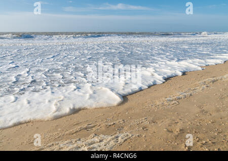 foam on the waves - Stock Photo