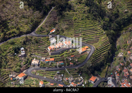 Valley of the Nuns, Curral das Freiras on Madeira Island, Portugal - Stock Photo
