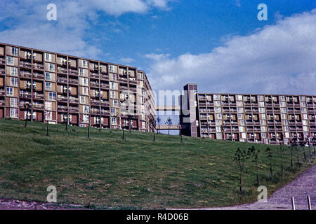 Park Hill Flats, Sheffield. Image taken in July 1964 - Stock Photo