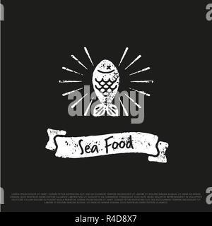 Fish Logo Vector illustration. - Stock Photo