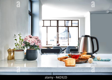 Bread toaster great for your breakfast in your hurry day - Stock Photo