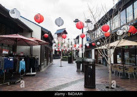 Street view of china town in Los Angeles, California, USA - Stock Photo