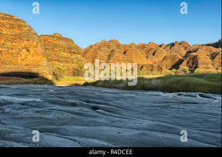 Dry riverbed of Piccaninny Creek, Bungle Bungles National Park - Stock Photo