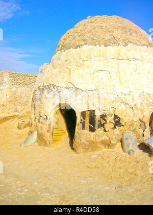 Sahara, Tunisia - January 03, 2008: Abandoned sets for the shooting of the movie Star Wars - Stock Photo