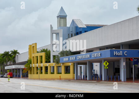 Entrance to Miami Beach Convention Center in Miami, Florida, USA - Stock Photo