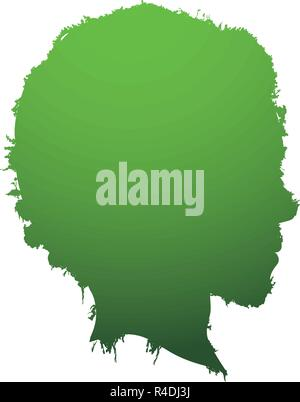 man head profile ecology icon vector illustration design - Stock Photo