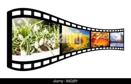 film strip with spring images Stock Photo: 226493554 - Alamy