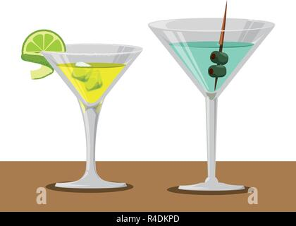 delicious cocktails drinks icons vector illustration design - Stock Photo