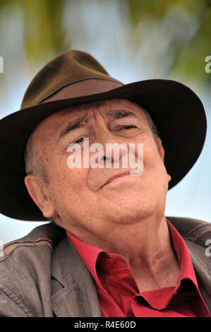 BERNARDO BERTOLUCCI (16 March 1941 - 26 November 2018) was an Italian director and screenwriter, whose critically acclaimed films include 'The Conformist', 'Last Tango in Paris', '1900', 'The Last Emperor' (for which he won the Academy Award for Best Director and the Academy Award for Best Adapted Screenplay), 'The Sheltering Sky', and 'Stealing Beauty.' In recognition of his work, he was presented with the inaugural Honorary Palme d'Or Award at the opening ceremony of the 2011 Cannes Film Festival. PICTURED: May 23, 2012 - Cannes, France - Director BERNARDO BERTOLUCCI during the 2012 Cannes F - Stock Photo