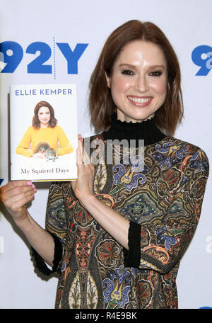 New York, NY, USA. 26th Nov, 2018. Ellie Kemper at 92Y to talk about her new book My Squirrel Days on November 26, 2018 in New York City. Credit: Rw/Media Punch/Alamy Live News - Stock Photo