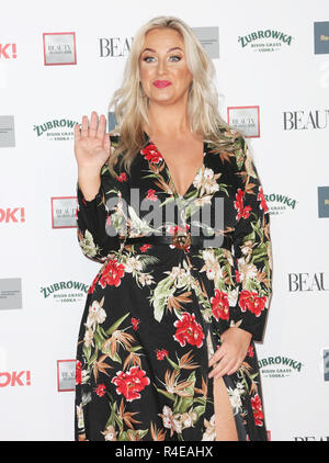 London, UK. 26th Nov 2018. Josie Gibson, The Beauty Awards 2018, Park Plaza Westminster Bridge, London, UK, 26 November 2018, Photo by pictured Credit: Rich Gold/Alamy Live News - Stock Photo