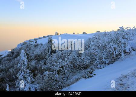 Winter landscape Monte Grappa - Stock Photo