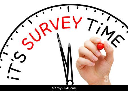 It Is Survey Time Concept - Stock Photo