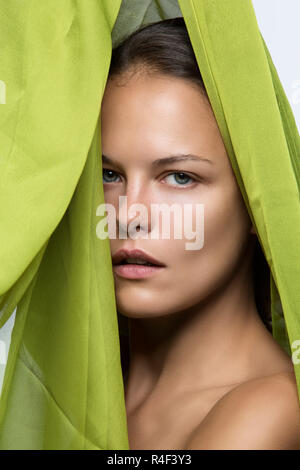 Girl with no makeup - Stock Photo