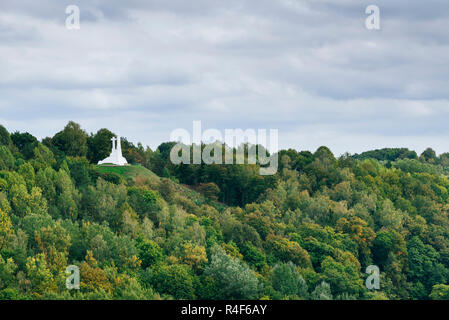 The Three Cross Hill. Vilnius, Vilnius County, Lithuania, Baltic states, Europe. - Stock Photo