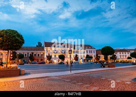 Town Hall square. Vilnius, Vilnius County, Lithuania, Baltic states, Europe. - Stock Photo