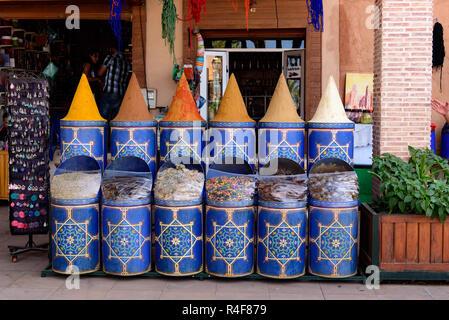 Sidi Hmed El Kamel Garden, Marrakech, Morocco - Stock Photo