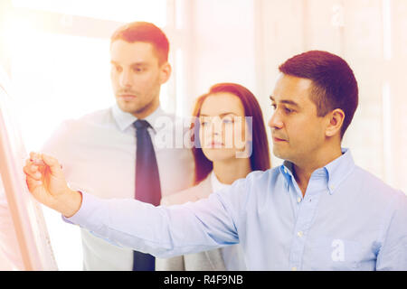 business team discussing something in office - Stock Photo