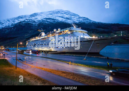 Cruise and Maritime ship Magellan in Olden Norway - Stock Photo