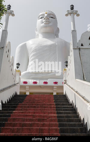 Bahirawakanda Sri Maha Bodhi temple in Kandy, Sri Lanka. The temple is at a very hilly place in Kandy and it is a center for carrying out Buddhist relations - Stock Photo