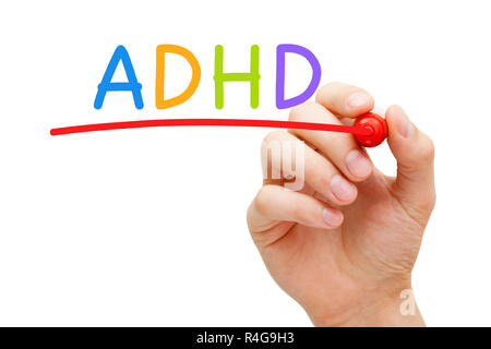 ADHD Attention Deficit Hyperactivity Disorder - Stock Photo