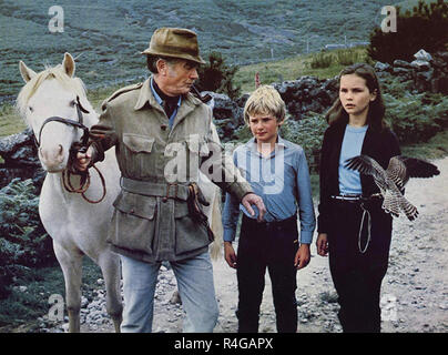RUN WILD, RUN FREE 1969 Columbia Pictures film with from left: John Mills, Mark Lester,Fiona Fullerton - Stock Photo