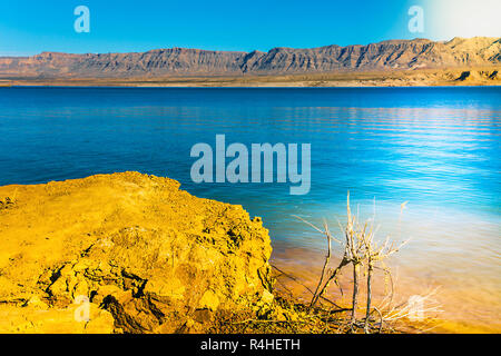 located in the lake mead national recreation area in arizona - Stock Photo