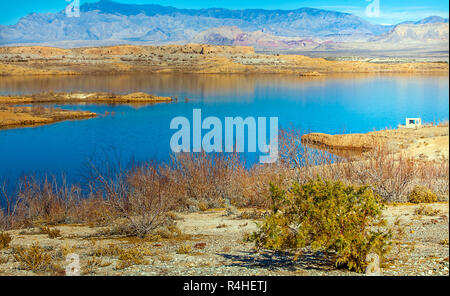 at the lake mead national recreation area in arizona - Stock Photo
