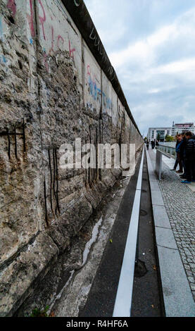 Remnants of the Berlin Wall - Stock Photo