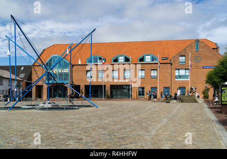 Nordfriesland, Office of Föhr Amrum in Wyk on the island Föhr, Amt Föhr Amrum in Wyk auf der Insel Föhr - Stock Photo